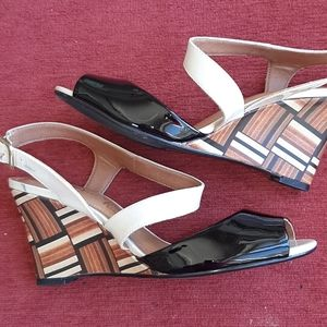 Cappelli Rossi Anthropologie leather wedge shoes